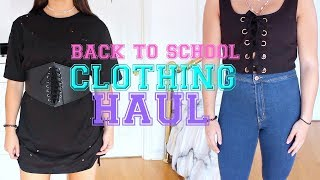 Cheap + Trendy Back to SCHOOL CLOTHING HAUL 2017 | Try On !!