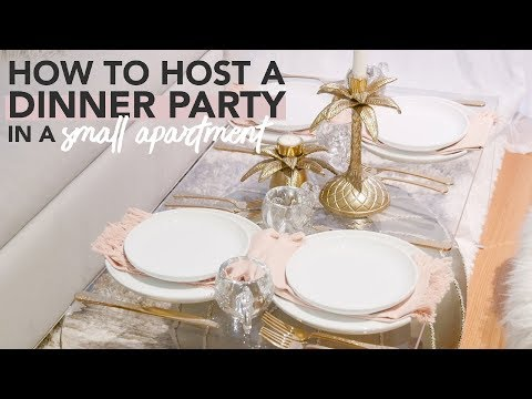 How to Host a Dinner Party in a Small Apartment (Without Having a Kitchen or Dining Table!)