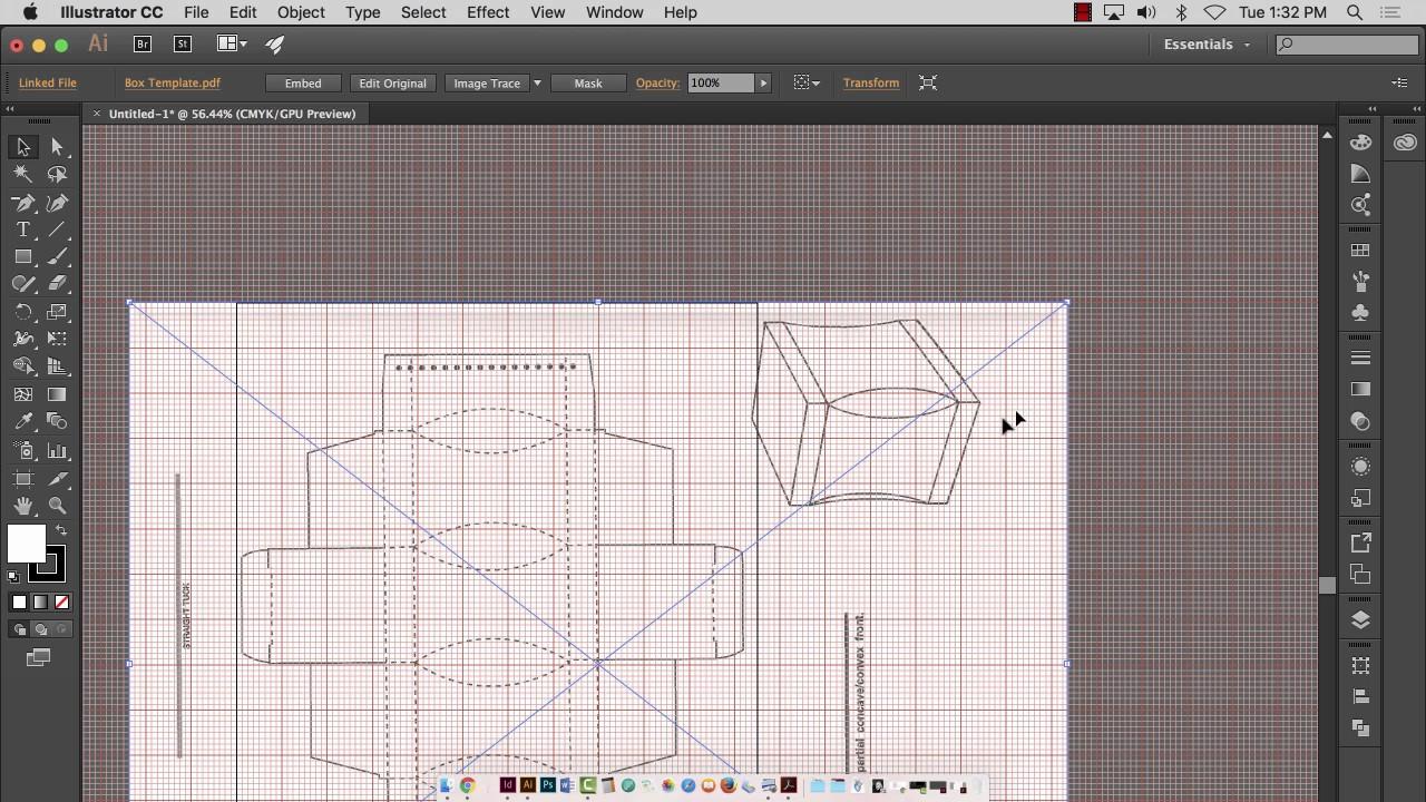 packaging design template building using illustrator and. Black Bedroom Furniture Sets. Home Design Ideas