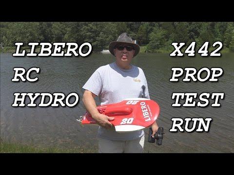 Libero RC Hydro X442 Prop test run