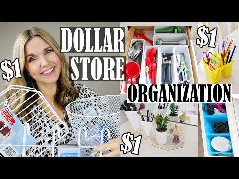 DOLLAR STORE ORGANIZATION IDEAS 🔴 ORGANIZING ON A BUDGET