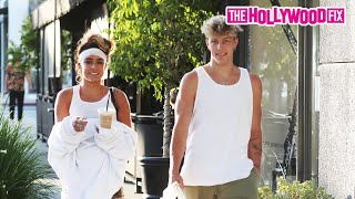 Tayler Holder & Soṁmer Ray Speak On Their Relationship While Leaving A Dinner Date In Beverly Hills