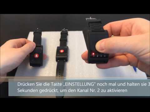 Drahtloses Armband-Rufsystem mit Quittierungsfunktion! (2 x Sender und Empfänger)