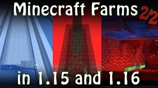 All Minecraft Farms updated for Minecraft 1.15/1.16 [Fun Farms Special 2/2]
