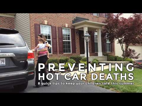 Maryland Health Department tips for preventing hot car deaths