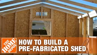 How To Build A Pre-fabricated Shed Part 2 - The Home Depot