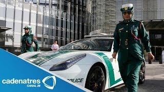 Policía de Dubai usa autos de lujos / Dubai's Police uses fancy cars