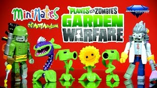 plants vs zombies garden warfare minimates box set toysrus exclusive sunflower pea shooters