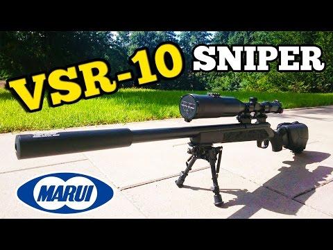 Tokyo Marui VSR 10 G Spec Sniper Review / Test [GER/4K]