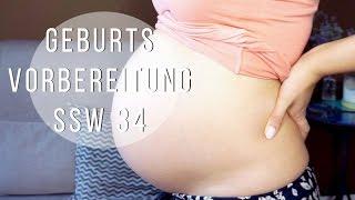 Geburtsvorbereitung! Damm Massage? Gewichtszunahme (SSW 34) | Schwangerschafts Update #6