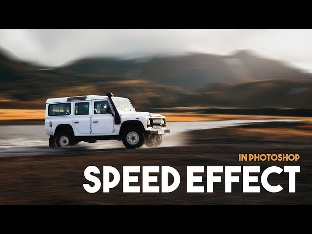 Motion Blur, Spin Blur, Path Blur | Photoshop Tutorial