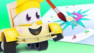 Truck Games - Рисование Мультфильмы с грузовиками для детей -