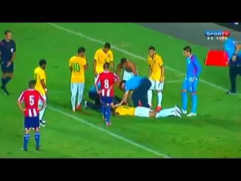 Brazil U23′s Anderson Talisca Gets KO'd After Scoring Header V Paraguay