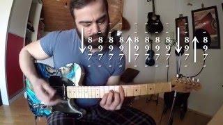 Athena - Ben Böyleyim - Tab, Akor, Rock Müzik Gitar Dersleri (Burak Altınay Cover)