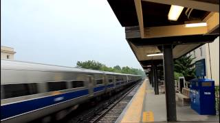 MNCR Harlem Line: Double Express Trains Passing Bronxville RR [M3A EMU]