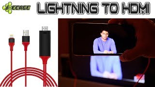 Lightning to HDMI cable - Mirror iPhone to TV - Screencast