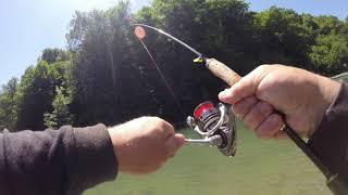 Трудовая рыбалка на горной реке