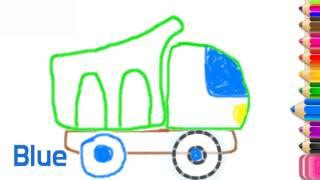 [색칠공부] How to Draw Moving truck| fun baby learn colors | Рисование грузовая машина