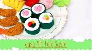 Easy DIY Felt Food Sushi No Sew