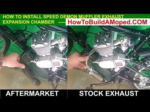 Performance Speed-Demon Muffler with Expansion Chamber Motorize Bike