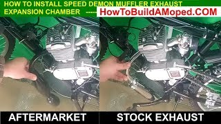 Exhaust Performance Speed Demon Muffler Expansion Chamber How To Build a Motorized Bicycle Part 16