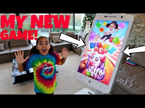 Giant iPhone! Playing My New Game App (BUBBLE POP) Free Download | Toys AndMe