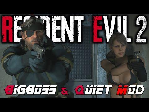 Resident Evil 2 : Un mod pour remplacer Leon et Claire par Big Boss et Quiet de Metal Gear Solid V