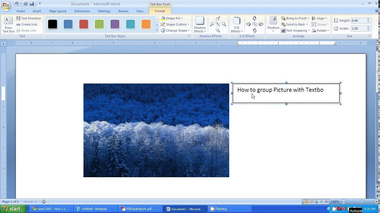 Microsoft word 2007 tutorial - How to group picture and ...
