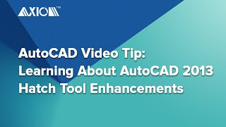 AutoCAD Video Tip: Learning About AutoCAD 2013 Hatch Tool Enhancements