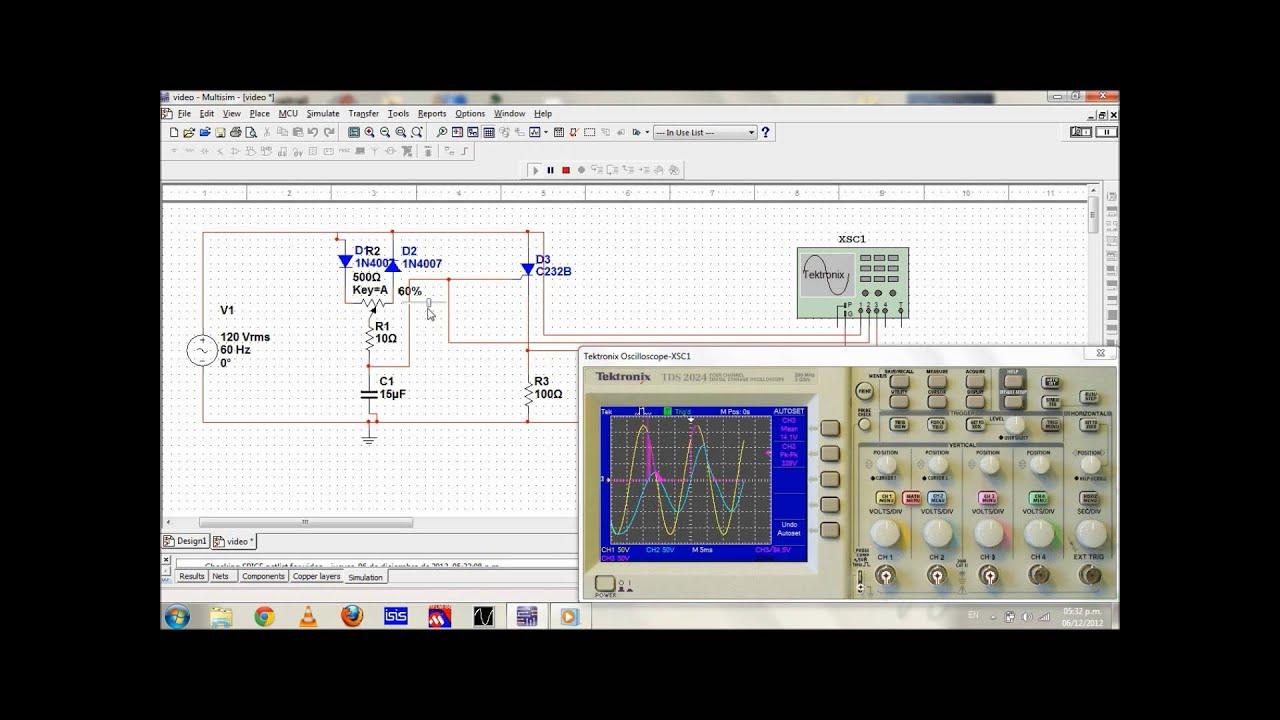 Circuito Com Scr Tic 106 : Circuitor disparador de un scr youtube
