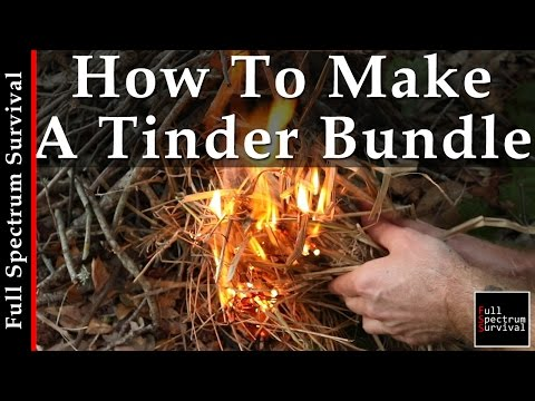 How To Start A Fire In Under 3 Minutes - With A Tinder Bundle