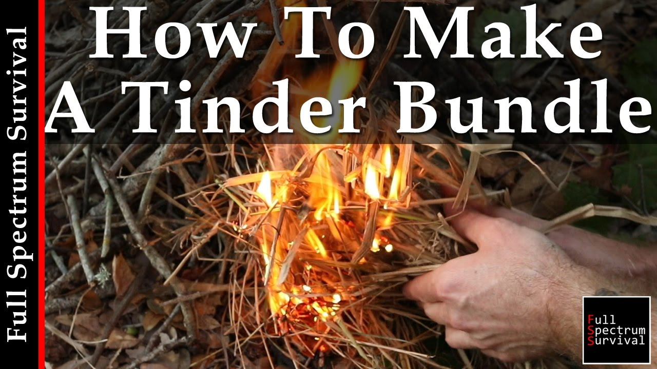 How to Make Tinder for a Fire