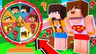 YOUTUBER EVİ ÇARK ÇEVİRME OYNADIK - Minecraft Modern Ev Kapışması