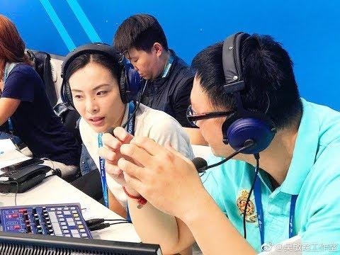2017布达佩斯国际泳联世锦赛 跳水混合双人10米台决赛解说嘉宾 - 吴敏霞 Wu Minxia
