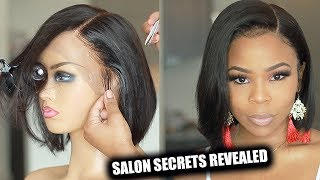 SALON SECRETS REVEALED: Lace Frontal Wig for beginners  | My First wig
