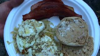 Part -2- Mountain Exploring / Camp Cooking Bacon & Eggs, Coffee / Back-country Camping.