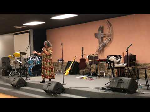 Hna. Rosario Murillo sings at New Creations in Christ Ministries.