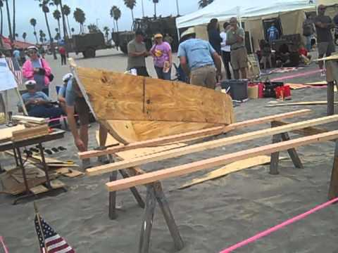 Overview of Nail and Sail Boat Building at Oceanside CA Harbor Days