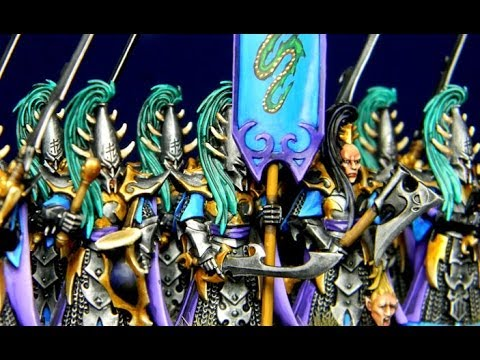 Dark Elves Project: Painting Executioners, Army Painter Ink Review & Decals for Banners