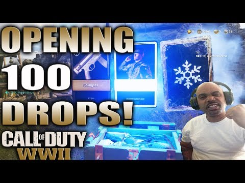 OPENING 100 SUPPLY DROPS LIVE! COD WW2 SUPPLY DROP OPENING! OVER 100 COMMON, RARE AND ZOMBIE  DROPS!