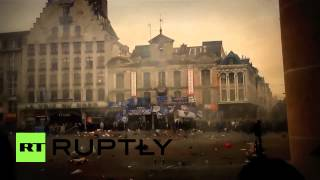 France: Police quell unruly Everton fans on tour