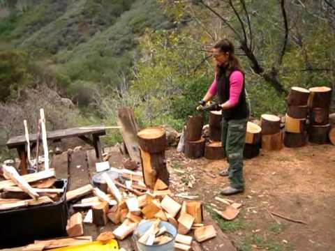 Image result for image of woman chopping wood