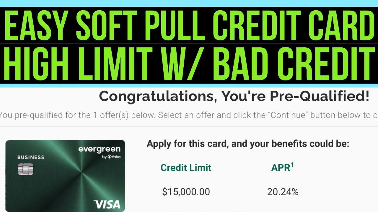 While running up credit card debt you can't immediately pay off is generally not a good idea, you may simply need a new ca. Easy High Limit Approval! Soft Pull Visa Credit Card Offer! Prequalify ASAP! - YouTube