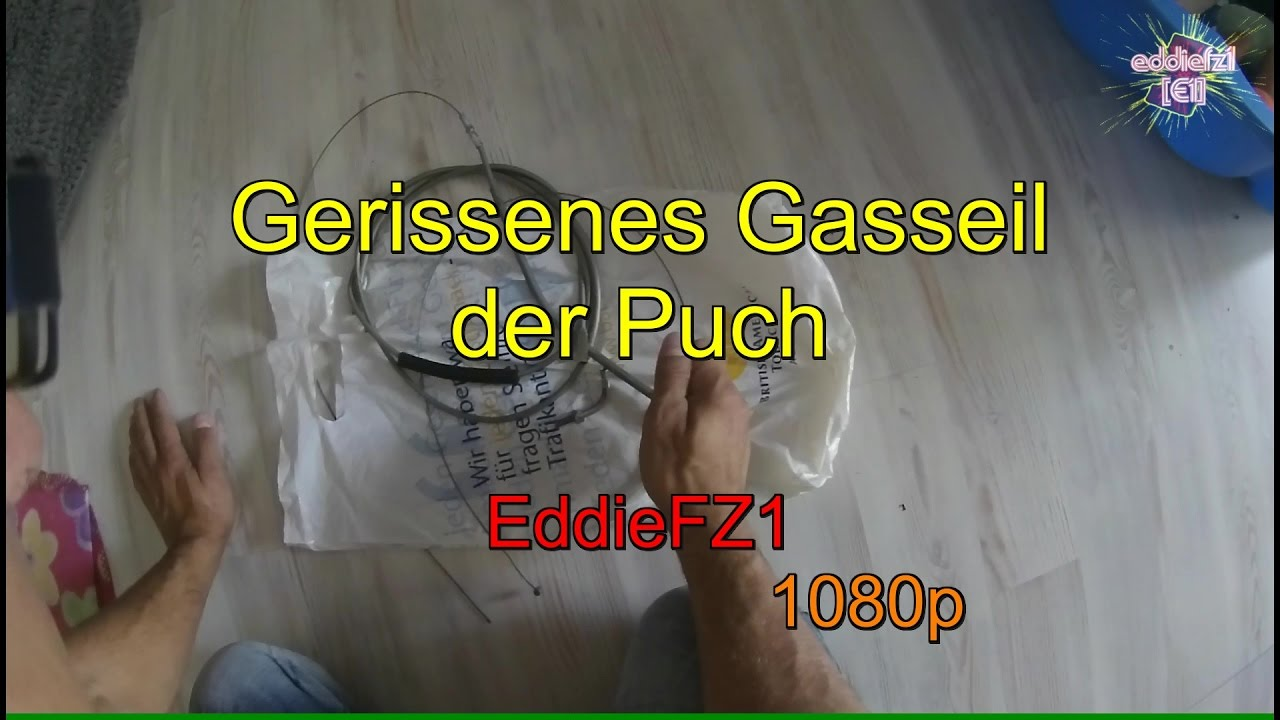 Download Gerissenes Gasseil der Puch -- Torn accelerate cable of the Puch