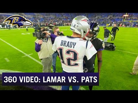 360-Degree View of Lamar Jackson's Game vs. the New England Patriots | Baltimore Ravens