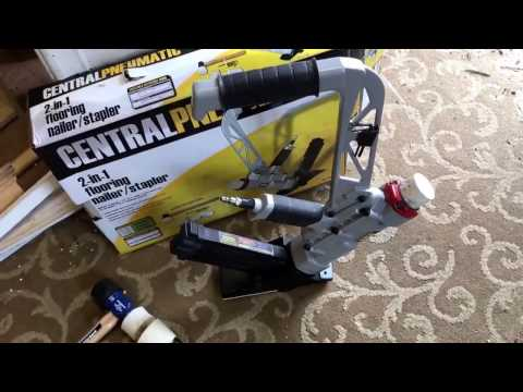 Harbor Freight Hard wood Floor nailer stapler Central Pneumatic . Revie w after1100 sf floor