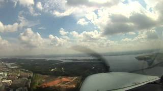 NFlightCam of First Solo Flight at Seletar Airport, Singapore