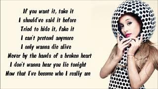 Ariana Grande ft. Zedd - Break Free ( Instrumental with lyrics on screen)