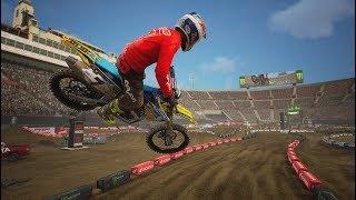 Supercross 2 - James Stewart 2019 Gameplay video ( PC HD 60fps )