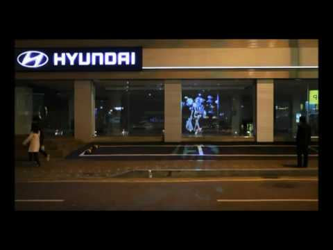 Transparent Holographic Rear Projection Film For Shop Window Advertising